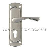 Дверные ручки на планке Trion ЦАМ POLIS 57 mm SN Широкая планка