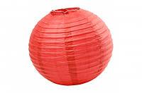 Бумажный подвесной шар красный, 45 см