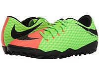 Кроссовки/Кеды (Оригинал) Nike Hypervenom Phelon III TF Electric Green/Black/Hyper Orange/Volt