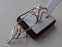 Эксклюзив!!! Серебряное дизайнерское кольцо с золотой пластиной