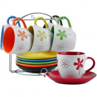 Сервиз для кофе со стойкой и тарелками 100мл. 6 порций Артикул:  117948