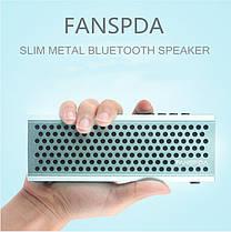 FANSPDA L100 Ultra Slim 1500mAh Stereo Металл Беспроводная связь Bluetooth FM Вызов двойной сабвуфер AUX, фото 3