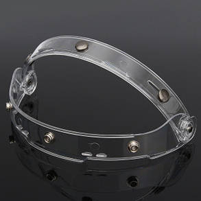 1шт 23x4.5cm флип ясный объектив защитный козырек для мотоцикла с открытым лицом шлем 3 пряжками, фото 2