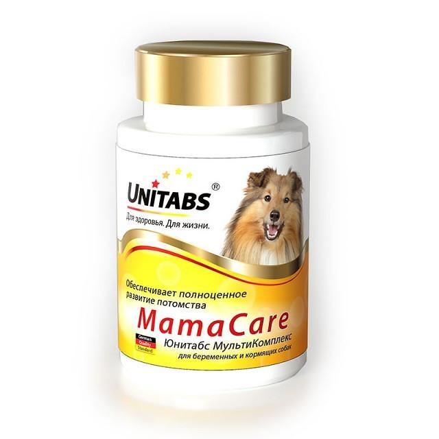 МАМАКАР MAMACARE UNITABS ежедневные витамины с фолиевой кислотой для щенных и кормящих сук, 100 таблеток