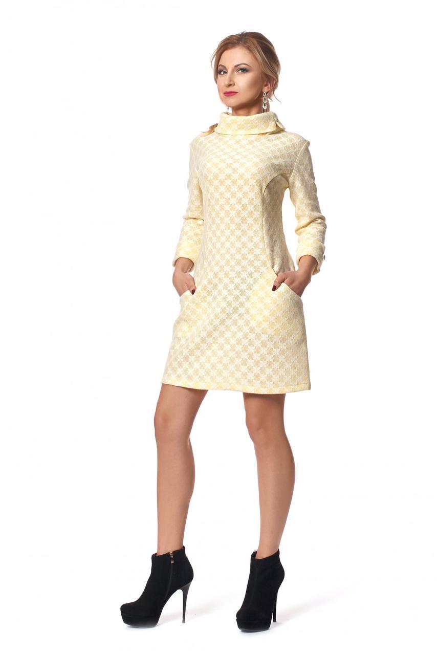 Зимнее платье-трапеция 44,46,48,50 44