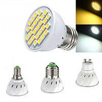 E14 E27 GU10 MR16 4W LED Лампы SMD 5050 Чистые белые теплые белые пятно света Лампочки 320LM AC110 AC220V