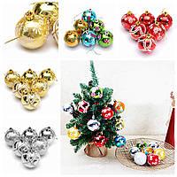 Пластиковые рождественские украшения ручной работы и окрашены шар елка шарики украшения 6 / 24pcs