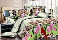 Комплект постельного белья сатин семейный размер TM Tag 048