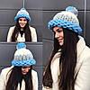 Зимняя шапочка с помпоном из 100% шерсти мериноса