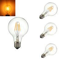 4w глыбы теплый белый 400lumens лампы накаливания Эдисона ретро свет колбы лампы AC110V AC220V E27 затемняемый G80