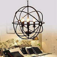 Современная промышленная люстра 6 свет подвесной светильник круглый шар клетка подвесной светильник
