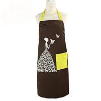 Творческий противообрастающая предотвратить грязный бытовой кухонной без рукавов полиэфирной бабочка девушка фартук