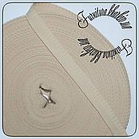 Тесьма брючная 50 м средней толщины (0,55 мм) бежевый
