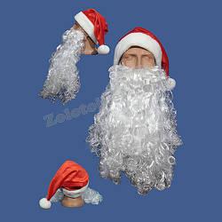 Борода и шапка Санта Клауса