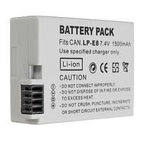 LP-E8 7.4V 1500mAh перезаряжаемые камера аккумулятор для Canon 550d 600d 650D 700D