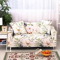 Два три сиденья текстильной спандекс strench гибкая печатная эластичный диван протектор диван обложка мебель