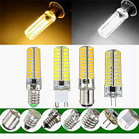 G9 BA15d 4w 80 СМД 5730 LED чистый белый теплый белый свет лам лампа AC220V G4 затемняемый e11 e12 e14 e17
