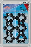 Кнопка пришивная №2 черная