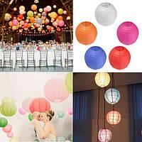 10шт 20см красочный бумажный фонарь для Рождество Свадьба украшение дома