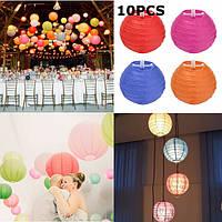 10шт 10см красочный бумажный фонарь для Рождество Свадьба украшение дома