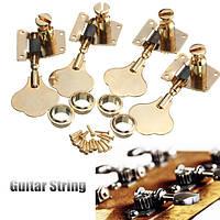 4шт настройки бас-гитара привязывает ключи тюнерами головка машины Ручки золотые