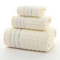 3шт чистого хлопка твист-менее ванны полотенца для лица домашнего спа-отель салон мягкой жаккардовые переплетения полотенце комплект