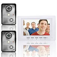 7-дюймовый видео домофон дверной звонок домофон комплект 2 камеры 1 монитор ночного видения SY817MKW21 Эннио