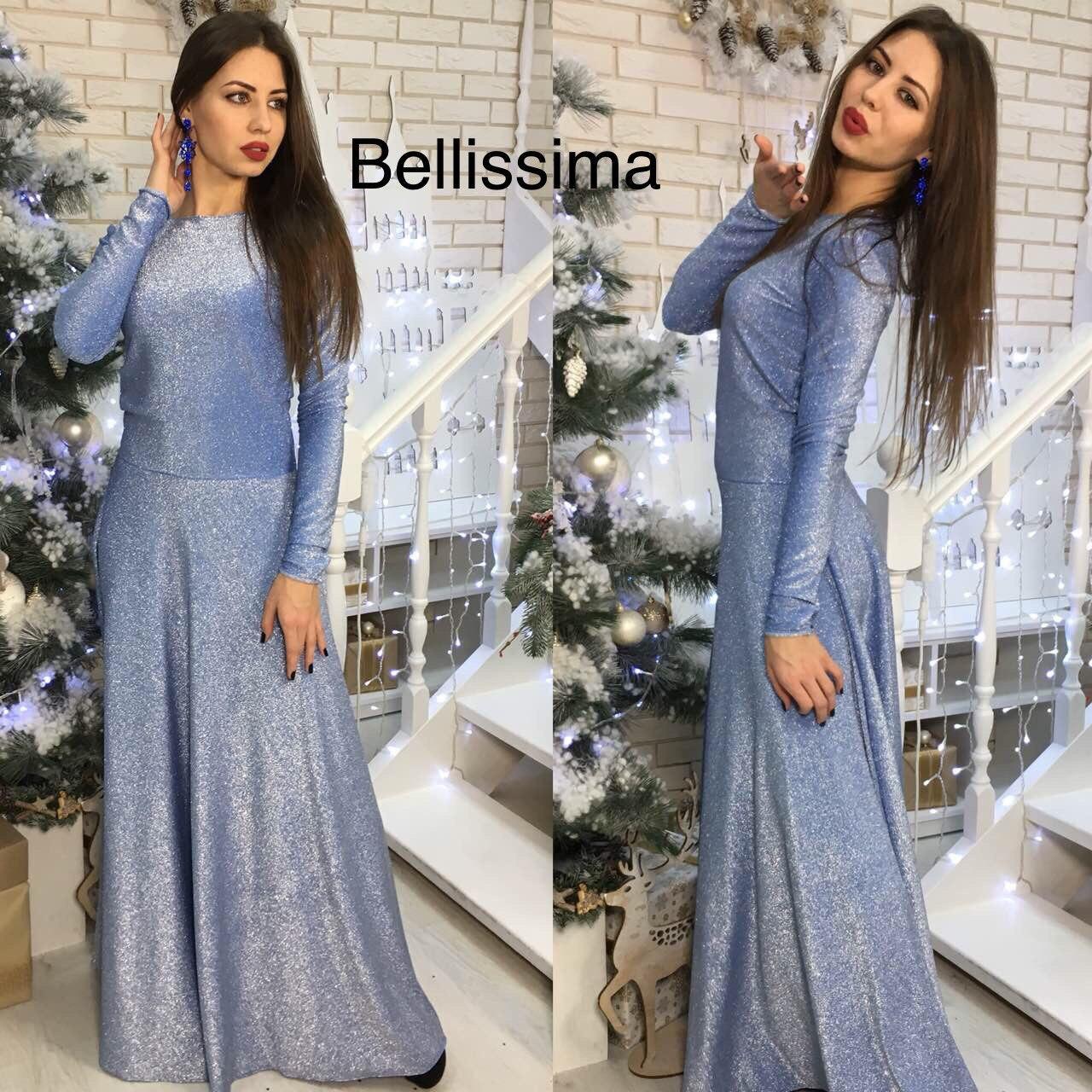 3b01ccb9ef7 Великолепное вечернее женское платье в пол (масло люрекс