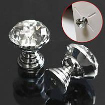 10шт 20мм круглый кристалл стеклянный шкаф ручки ящик мебель выдвижной ручкой, фото 2