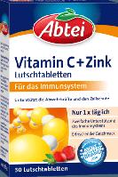 Abtei Vitamin C + Zink Lutschtabletten - Витамин С + Цинк жевательные таблетки, 30 шт.