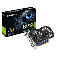 Видеокарта GeForce GTX750Ti OC, Gigabyte, 4Gb DDR5, 128-bit, 2xDVI/2xHDMI, 1137/5400MHz (GV-N75TWF2OC-4GI)