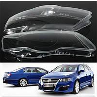 Пара крышка фары линзы пластиковый корпус абажур для VW PASSAT B6 r36