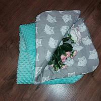 Плед зимний для новорожденных в коляску или кроватку