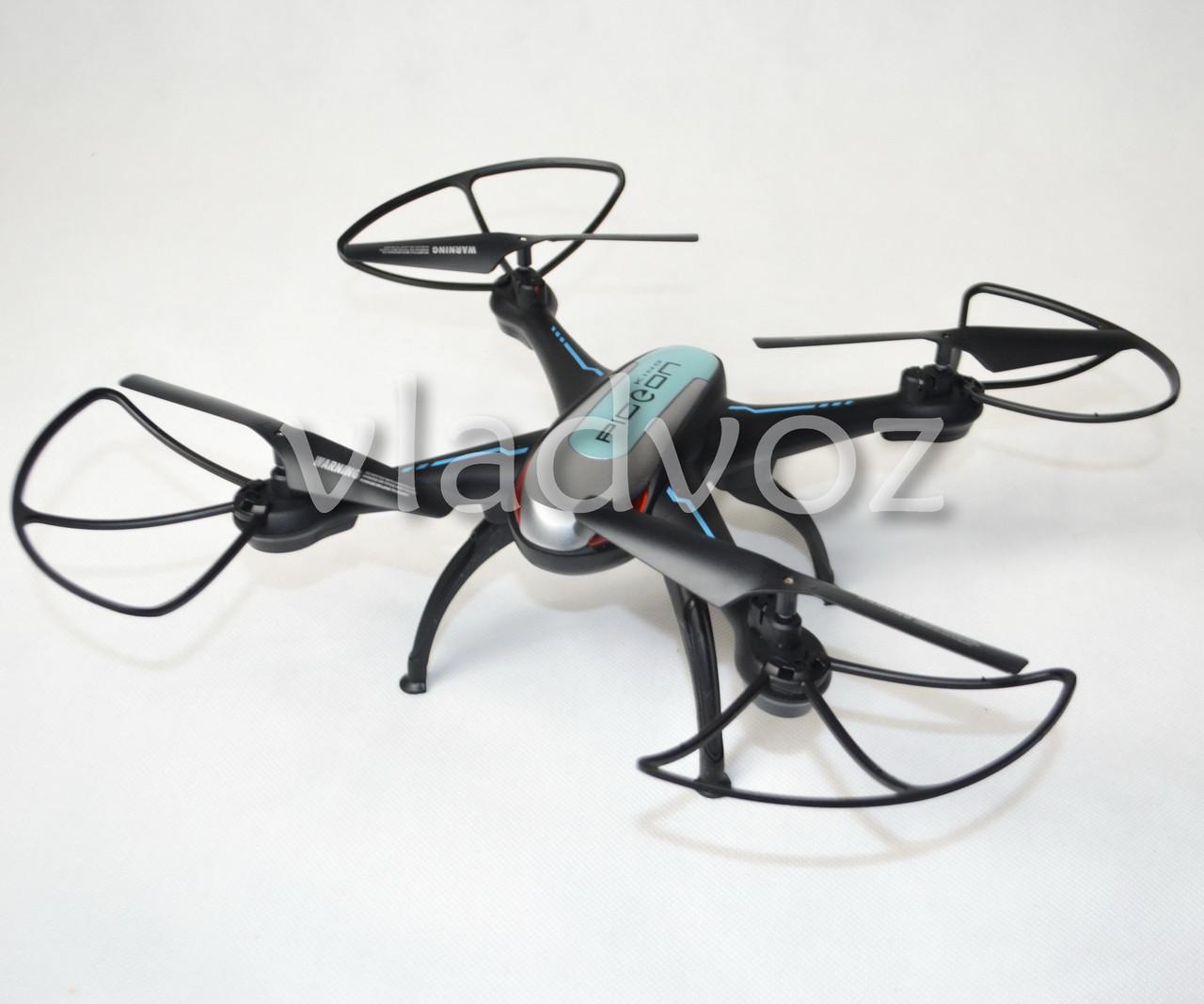 Фото радиоуправляемого квадрокоптера 2,4 gz Led 4 винта drone X-1507 черный