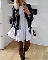 """Куртка-косуха """"Tomila"""" с кнопками на воротнике, молнией на рукавах и стильным поясом (2 цвета)"""