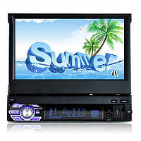 Машина одиночный 7-дюймовый HD сенсорный экран mp3 / mp5 с Bluetooth-плеер функцией подключения камеры заднего вида с кабелем