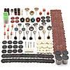 Набор аксессуаров 340 штук роторный инструмент подходит для dremel шлифования шлифовальный шлифовальный инструмент