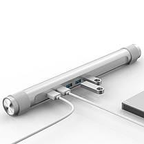 ORICO USB 3.0 концентратор с функцией стенд 4 порта USB держатель для круглого ноутбука, фото 2