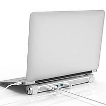 ORICO USB 3.0 концентратор с функцией стенд 4 порта USB держатель для круглого ноутбука, фото 3
