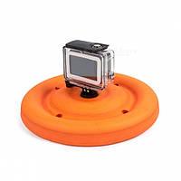 Летающая и водоплавающая тарелка - frisbee для экшен камер Xiaomi YI, SJCam, GoPRO (код № XTGP420)