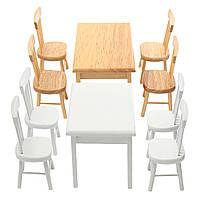 1:12 Обеденный стол стул Set Dollhouse Миниатюрные аксессуары для мебели для кукольных домиков