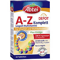 Abtei A-Z Depot Complete Tabletten - Комплекс витаминов и минералов A-Z, 42 шт.