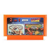 2 в 1 8 бит игра патрона Двойной дракон ниндзя лягушки для NES Нинтендо