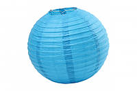 Бумажный подвесной шар голубой, 45