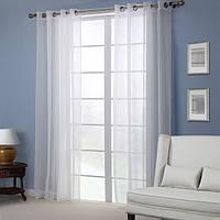 Европа стиль белый чистой занавес спальни гостиной экран окна балкон домашний декор