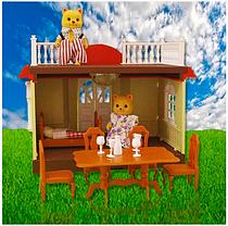 Будиночок Happy family 012-04. Альтанка з сімейкою котиків (аналог Sylvanian Families), фото 2