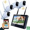 4ch 960P беспроводной видео DVR безопасности четыре водонепроницаемый пуля IP-камеры SY1003FD14 10 дюймов TFT Эннио