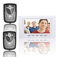 7-дюймовый видео домофон дверной звонок домофон комплект 2 камеры 1 монитор ночного видения SY817FCB21 Эннио