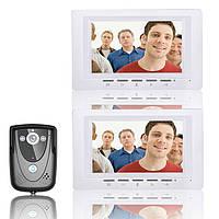 7-дюймовый комплект видео домофон дверной звонок домофон 1 камера 2 монитора ночного видения SY817FCB12 Эннио