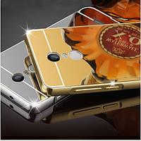 Роскошные Покрытие кадра Зеркало задней стороны обложки случая бампера кожи для Xiaomi редми Примечание 4